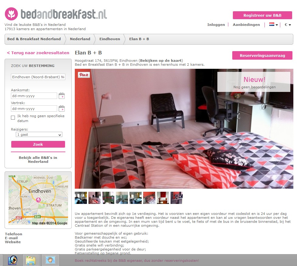 elan bed and breakfast eindhoven