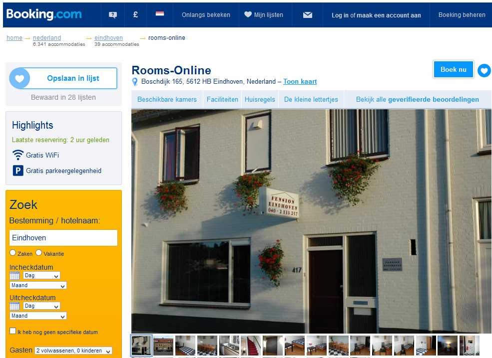 bed and breakfast eindhoven rooms online